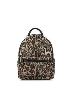 рюкзак с леопардовым принтом и логотипом Dolce&gabbana