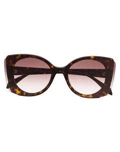 Солнцезащитные очки в массивной оправе Alexander mcqueen eyewear