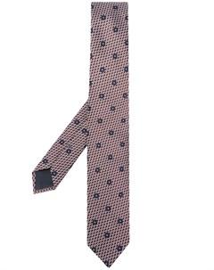 галстук с вышитым узором Ermenegildo zegna