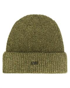 шапка бини с вышитым логотипом White mountaineering