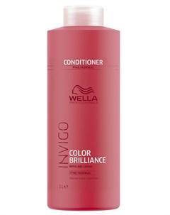 Бальзам уход для защиты цвета окрашенных нормальных и тонких волос Brilliance 1000 мл Wella professionals