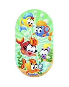 Коврик Kids для ванной Веселые Рыбки 69х39 см Pondo