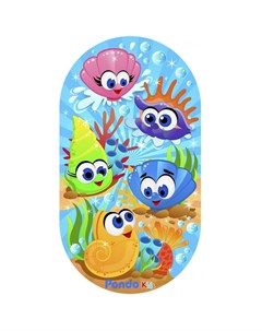 Коврик Kids для ванной Морские Ракушки 69х39 см Pondo