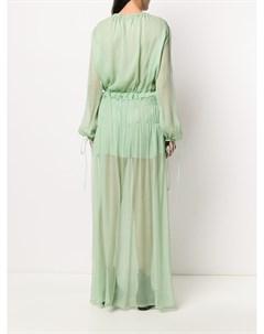 Платье с оборками Amiri