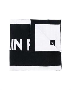 шарф с логотипом вязки интарсия Balmain kids