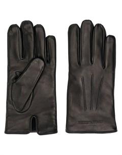 перчатки с гравировкой логотипа Emporio armani