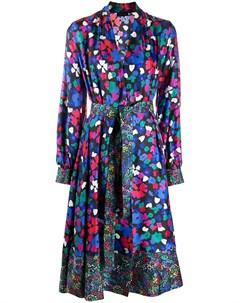 Платье Wildflowers с запахом и цветочным принтом Stine goya