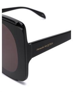 Массивные солнцезащитные очки в круглой оправе Alexander mcqueen eyewear