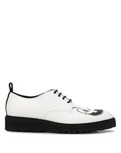 туфли с принтом Moschino