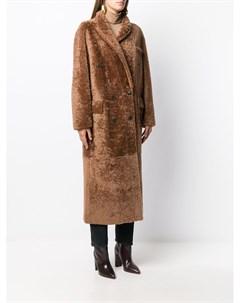 Двубортное пальто Paula Simonetta ravizza
