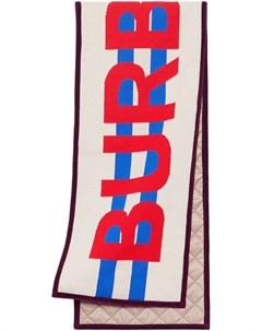 Жаккардовый шарф с логотипом Burberry kids