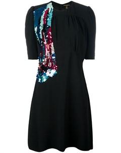 Расшитое пайетками платье pre owned Louis vuitton