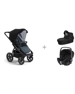 Прогулочная коляска X Move люлька X Pram light и автокресло Britax Roemer Baby Safe2 i size X-lander