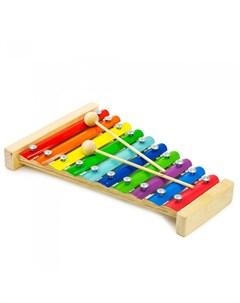Деревянная игрушка Металлофон МФ1001 Alatoys