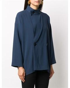Блузка со смещенной застежкой на пуговицах 132 5. issey miyake