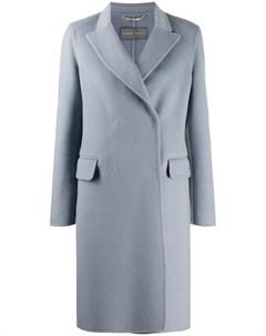 Двубортное пальто строгого кроя Alberta ferretti