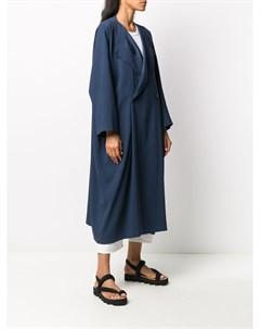 Двубортное пальто свободного кроя 132 5. issey miyake