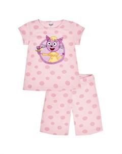 Пижама для девочки Три кота TKG195 Frutto rosso