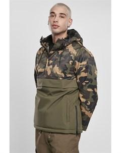 Куртка Camo Mix Pull Over Jacket Olive Wood Camo XL Urban classics
