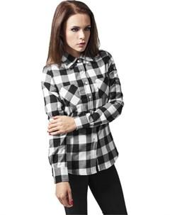 Рубашка Ladies Checked Flanell Shirt Black Red L Urban classics