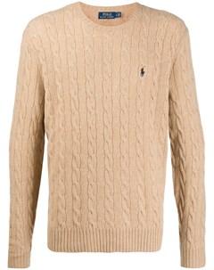 пуловер фактурной вязки с логотипом Polo ralph lauren
