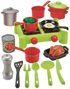 Игровой набор ECOIFFIER 2649 Chef Набор плита с продуктами Ecoiffier