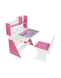 Детская растущая парта и стульчик Первое место Леди розовый Я сам