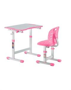 Детская парта и стул Omino Pink Цвет столешницы Розовый Цвет ножек стола Белый Fundesk