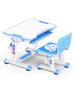 Комплект парта и стульчик BD 08 Teddy белый синий Mealux