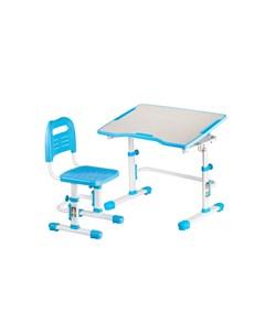 Vivo 2 Комплект парта и стул трансформеры Цвет столешницы Голубой Цвет ножек стола Белый Fundesk