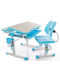 Комплект парта и стульчик EVO 05 цвет клён голубой Mealux