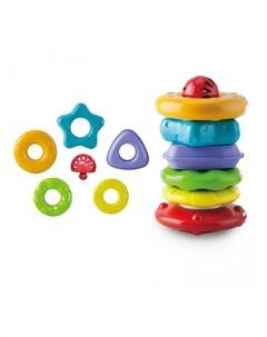 Развивающая игрушка Пирамидка Собирай и катай 3035А Little нero