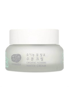 Крем для лица Organic Flowers Water Cream Natto Gum новый дизайн Whamisa