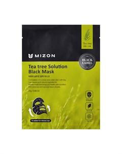 Тканевая маска Tea Tree Solution Black Mask Mizon