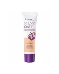 Тональный крем Stay Matte Liquid Mousse Foundation Цвет 10 Light Porcelain Светлый фарфор Rimmel