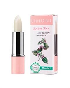 Бальзам для губ Lipcare Stick Цвет 1 Ментол Limoni