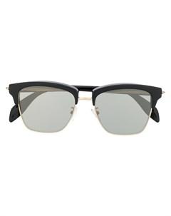 Солнцезащитные очки в роговой оправе Alexander mcqueen eyewear