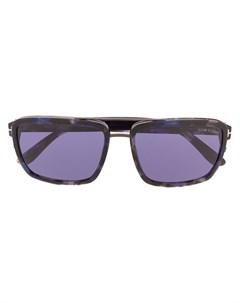 Солнцезащитные очки в прямоугольной оправе Tom ford eyewear