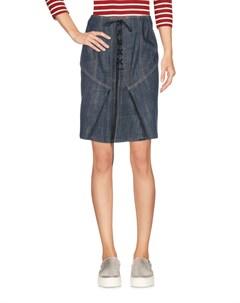 Джинсовая юбка Alaia
