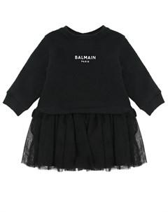 Платье с имитацией юбки и свитшота детское Balmain