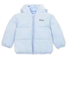 Голубая куртка с логотипом на спинке детская Hugo boss