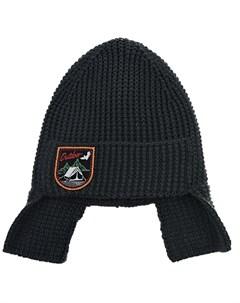 Темно серая шапка с квадратными ушками детское Joli bebe