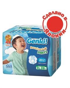 Трусики подгузники Nepia XL 12 17кг 26шт Genki