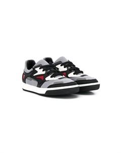 кроссовки с контрастными вставками Lanvin enfant