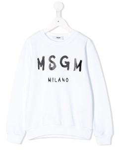 джемпер с логотипом Msgm kids