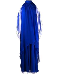 Платье с драпировкой и вырезом халтер Alberta ferretti