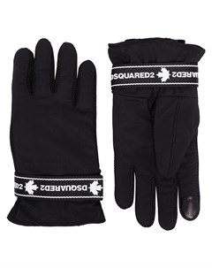 перчатки с логотипом Dsquared2