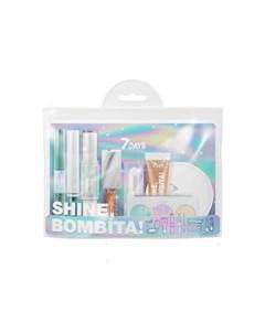 Подарочный набор для макияжа косметичка shine bombita 5 rockstar 8 средств 7 days