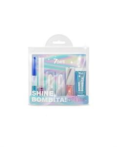 Подарочный набор для макияжа косметичка shine bombita 4 miracle 6 средств 7 days