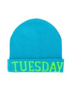 шапка бини с надписью Tuesday Alberta ferretti kids
